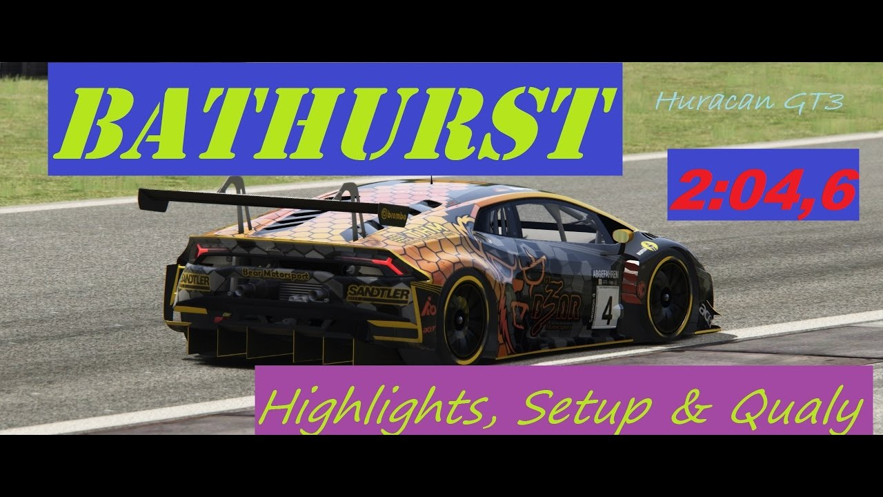 assetto corsa bathurst gt3 hotlap highlights lamborghini huracan gt3 abgf youtube. Black Bedroom Furniture Sets. Home Design Ideas