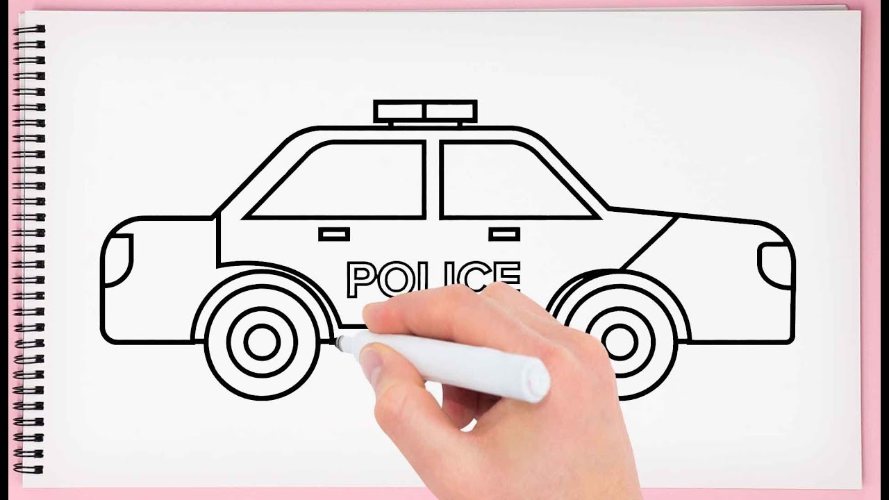 How to Draw Police Car Learn Easy and Step by Drawing a ...