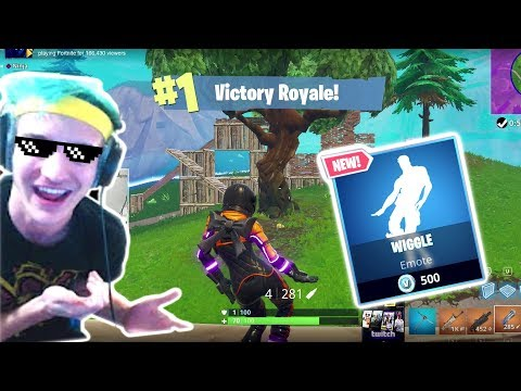 Ninja Dances With The New Wiggle Emote And Does A Freestyle Rap!