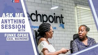 Techpoint AMA Live Session with Funke Opeke (MainOne CEO) #TechpointAMA