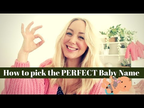 HOW TO PICK THE PERFECT BABY NAME | 5 Top Tips & Tricks  - SJ STRUM