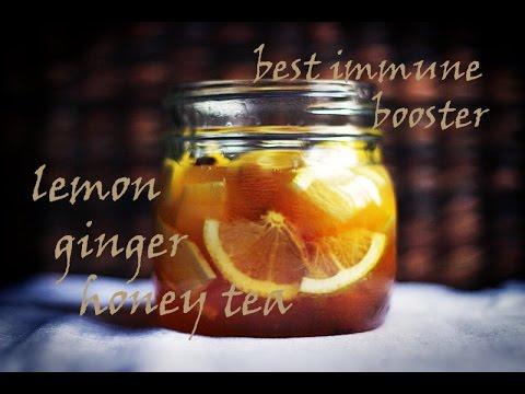 DIY: Best immune booster - Lemon, ginger, honey tea..