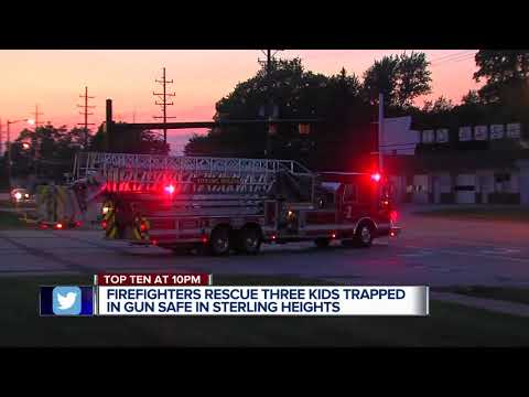 Gun safe rescue: 3 metro Detroit kids accidentally lock themselves inside