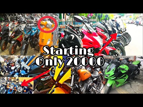 Chor Bazzar Kolkata | kolkata's Cheapest Second Hand Super Bikes | Just 20k | KTM | Duke390
