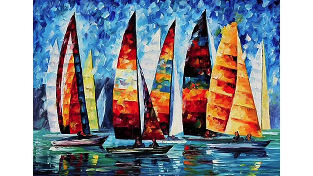 tableaux bateaux peintures sur toile youtube. Black Bedroom Furniture Sets. Home Design Ideas