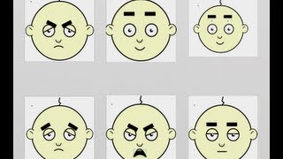 Flash Animation Tutorial | How to animate facial expressions in Flash Cartoons