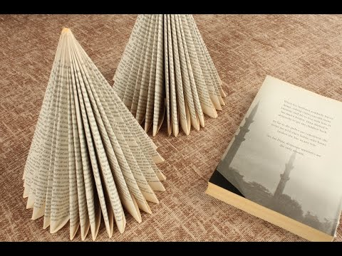 Book Christmas Tree – Reuse/ Recyle books DIY