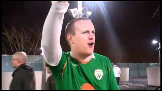 Ireland fans celebrate reaching the Euro 2012 finals