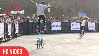 Amazing bicycle stunts | Suzuki Gixxer Day | ViralBollywood Entertainment