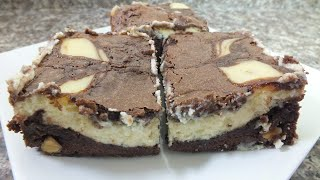 براوني بيتي كروكر تشيز كيكCheesecake Brownies مطبخ أفنان - Afnan's Kitchen