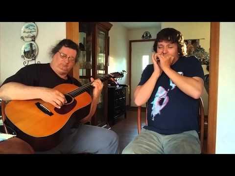 Acoustic slow blues harmonica