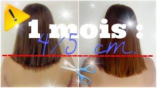 💡4/5 cm en 1 mois ✂➡Pousse de cheveux ultra rapide !