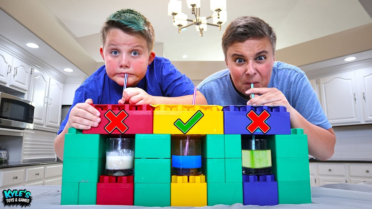 Giant Lego Don T Choose The Wrong Straw Game Mystery