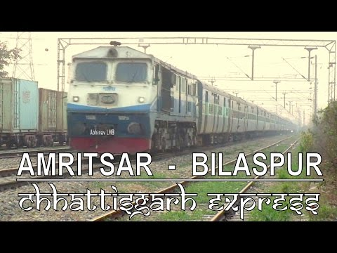 Amritsar - Bilaspur Chhattisgarh Express with TKD ALCo WDP3A | Last capture with diesel loco