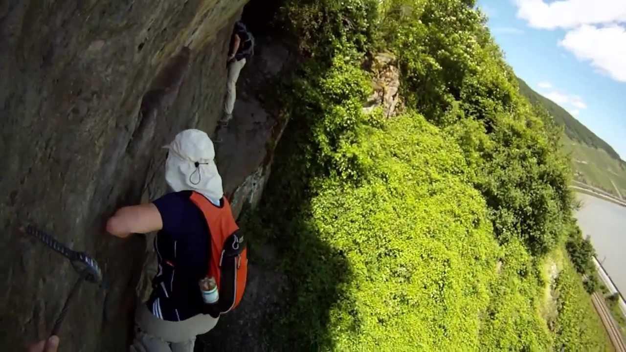 Klettersteig Nochern : Mittelrhein klettersteig youtube