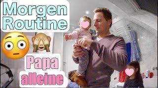 Echte Morgenroutine mit 3 Kindern | Mit Papa alleine | Papa VLOG | Mamiseelen