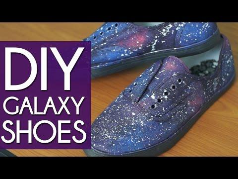 DIY GALAXY SHOES!!