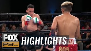 Jose Balderas drops Julio Garcia 4 times before the fight was called | HIGHLIGHTS | PBC BOXING