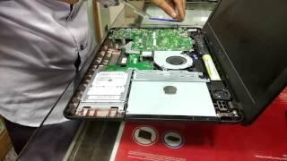 Asus X541U laptop new ram addition internally.