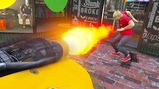 ROCKET CAR TROLLING! *HILARIOUS!* | GTA 5 Online