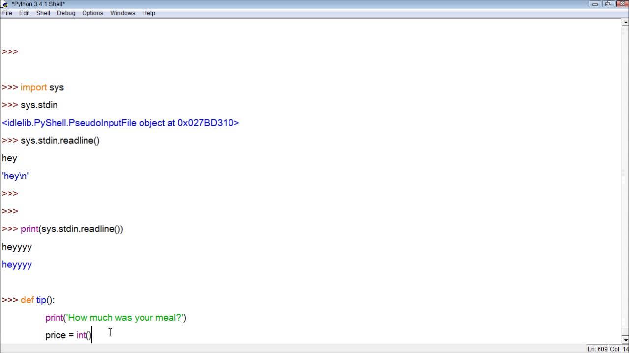 Python Tutorial 29 - Taking User Inputs with sys stdin readline()