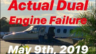ACTUAL DUAL ENGINE FAILURE IN A CITATION JET