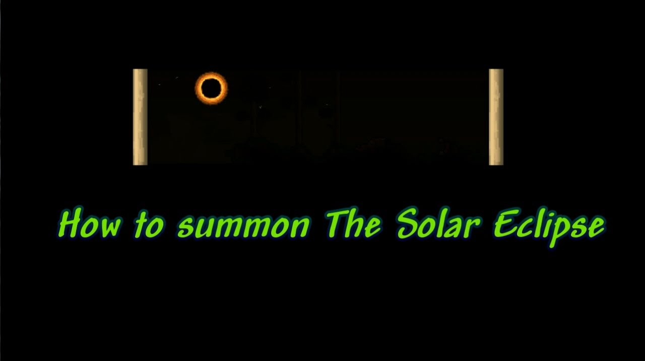 Terraria 1 3 Tutorial How To Summon The Solar Eclipse Youtube Черепашья броня и коса смерти в terraria 1.3! terraria 1 3 tutorial how to summon the solar eclipse