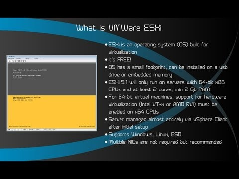 What is VMWare ESXi and how does it work? 2013 1080P ESXi 5.1