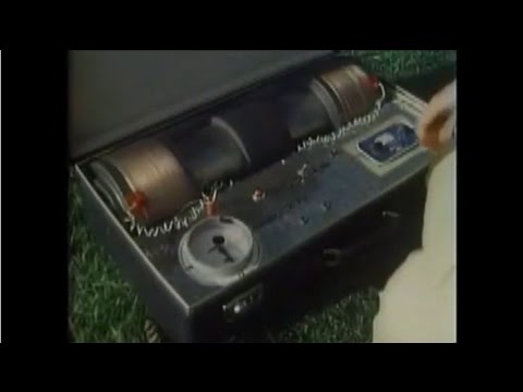 Mock Up Of Nuclear Bomb In A Suitcase - James Burke (1978)