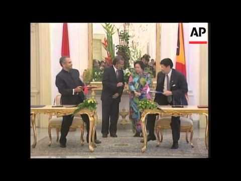 East Timor's president and FM visit Jakarta