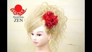 原点回帰の盛り髪カールアップ ZENヘアセット100!big hair tutorial thumbnail