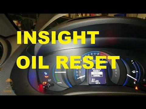 ▶️How to Reset Honda Insight Oil Light / Service Light / Maintenance Light 2010 2011 2012 2013 2014