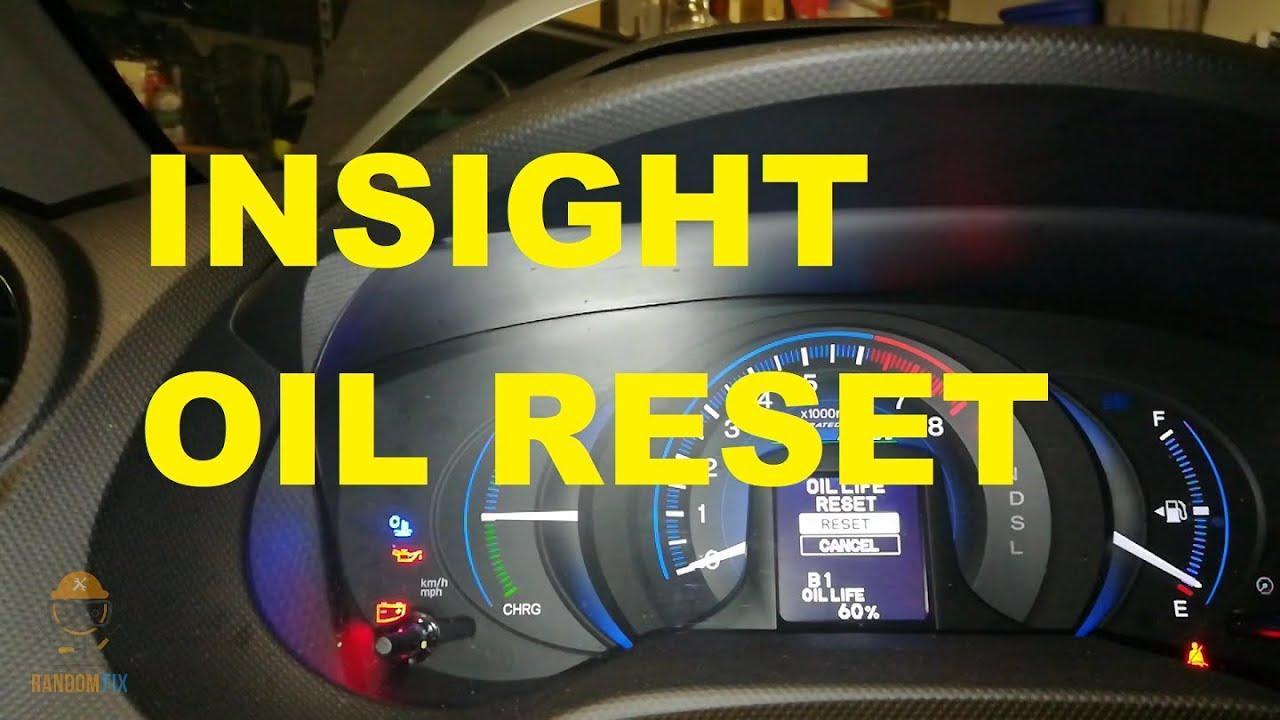 How To Reset Honda Insight Oil Light Service Light