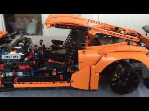 Lego Porsche 42056 transmission works - YouTube