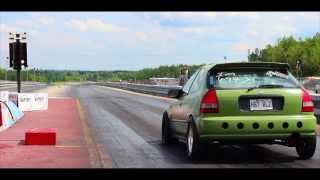 10 seconds 500whp Stock sleeve turbo TypeR  Miramichi dragway