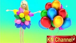KN Channel HƯỚNG DẪN LÀM ÁO ĐẦM BÚP BÊ BẰNG BONG BÓNG NHIỀU MÀU SẮC XINH ĐẸP