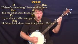 Tell Me Why (Beatles) Banjo Cover Lesson with Chords/Lyrics