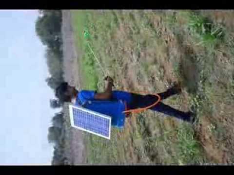 Solar pesticide sprayer - YouTube