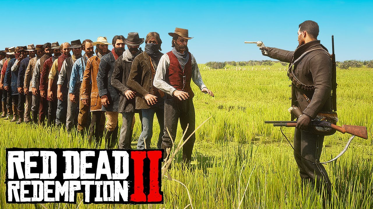 HOW MANY NPCs Can 1 BULLET Kill in Red Dead Redemption 2?! thumbnail