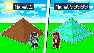 MINECRAFT NOOB VS PRO: PIRÁMIDE DE DIAMANTITO vs PIRÁMIDE DE CACA 😂 MINECRAFT BUILDTUBERS