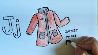 How to draw~J for jacket