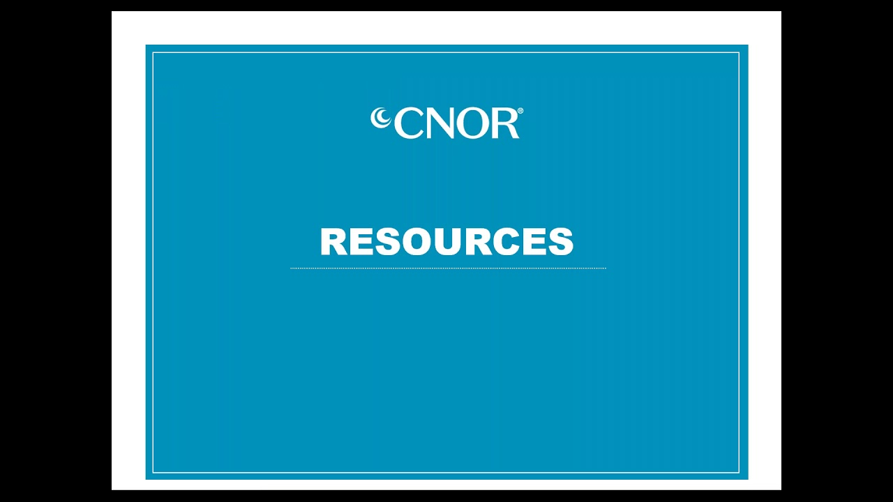 Cnor Certification Pathway To Excellence Youtube
