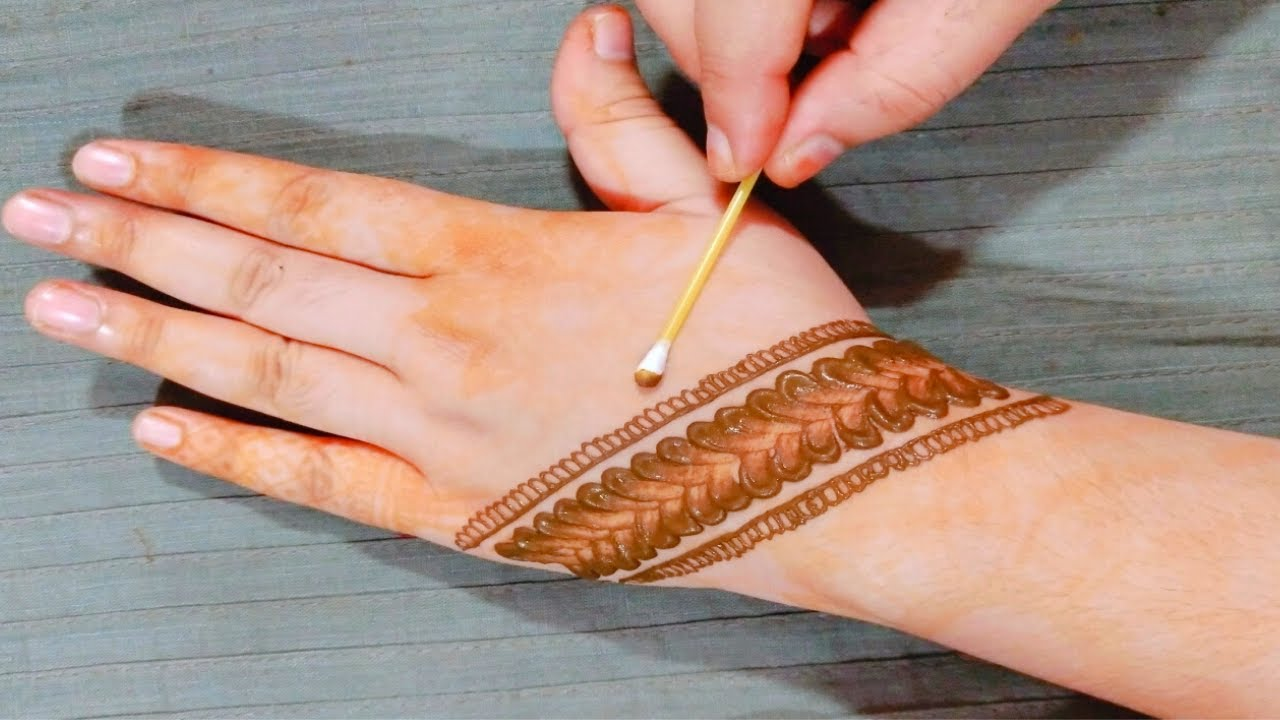 New Latest Stylish Cotton Bud Mehndi Design Full hand || Latest Arabic Mehendi Design for Back hands