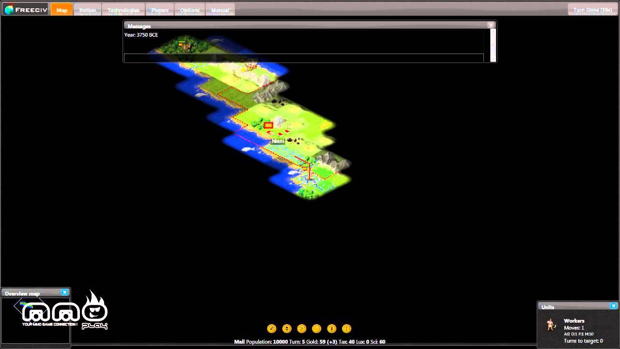 Freeciv Gameplay First Look - HD