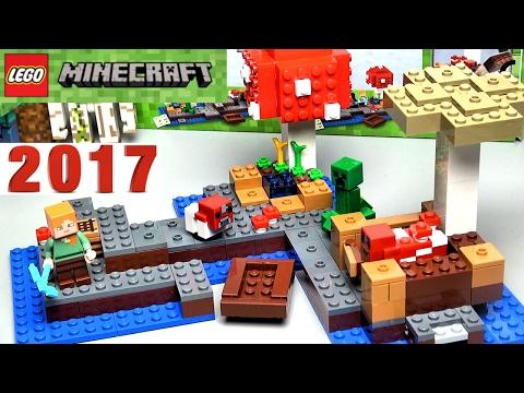 Лего Майнкрафт 21129 Грибной остров Обзор LEGO Minecraft. Игра МАЙНКРАФТ Видео