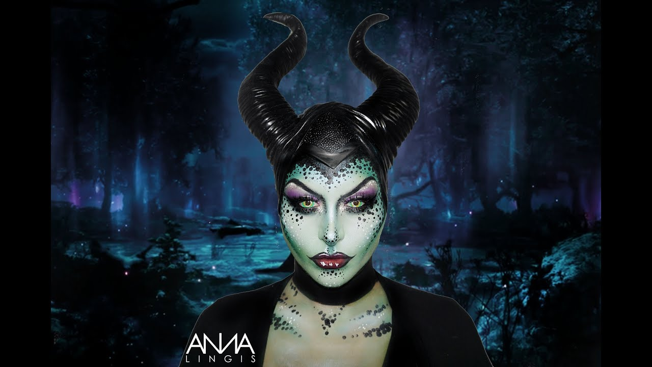 Maleficent makeup tutorial youtube maleficent makeup tutorial baditri Gallery
