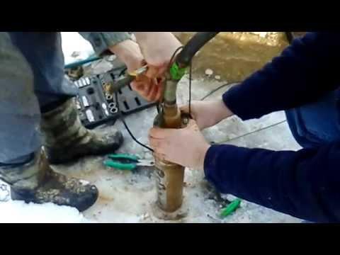 Ремонт насоса Sprut  модель 4S QGD1.2-50-0.37 /Repair of pump of Sprut
