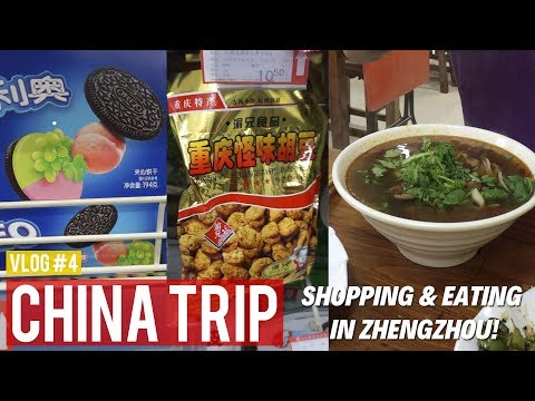 Shopping & Eating in Zhengzhou! | China Travel Vlog #4