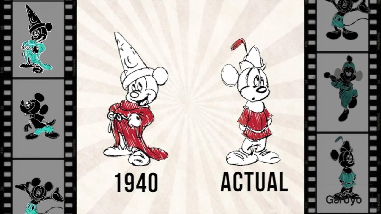 Mickey Mouse antes y despus  Evolucin grfica de Mickey Mouse