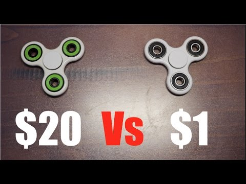 $20 vs $1 Fid Spinner